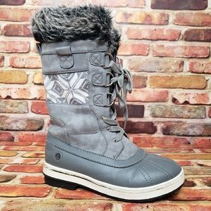 Northside Gray Snow Boots Size 8